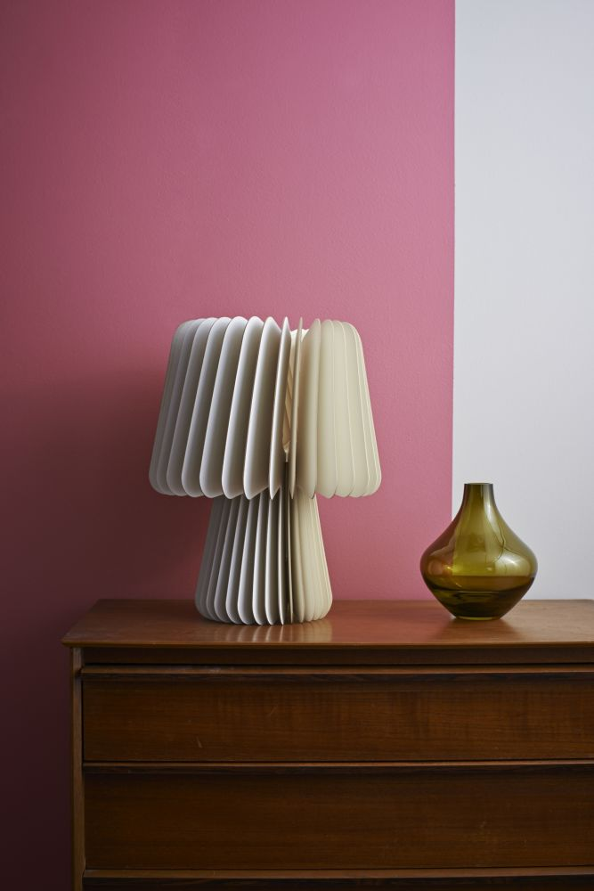Beam Table Lamp - Pale Grey & China White