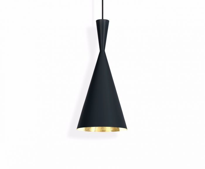 beat tall pendant light black by tom dixon. Black Bedroom Furniture Sets. Home Design Ideas