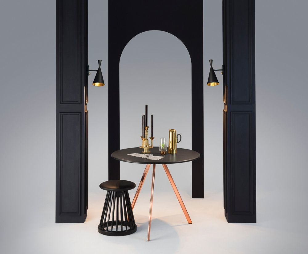Beat wall light black by tom dixon a variation on the famous original beat light made from spun brass the beat wall light incorporates the familiar hand beaten shade with a solid brass mozeypictures Gallery