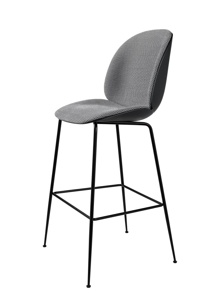 Beetle Counter Chair - Front Upholstered Shell by Gubi