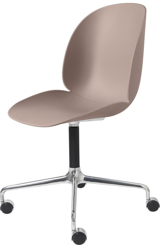 Beetle Meeting Chair - 4-Star Base W/ Castors Unupholstered Shell by Gubi
