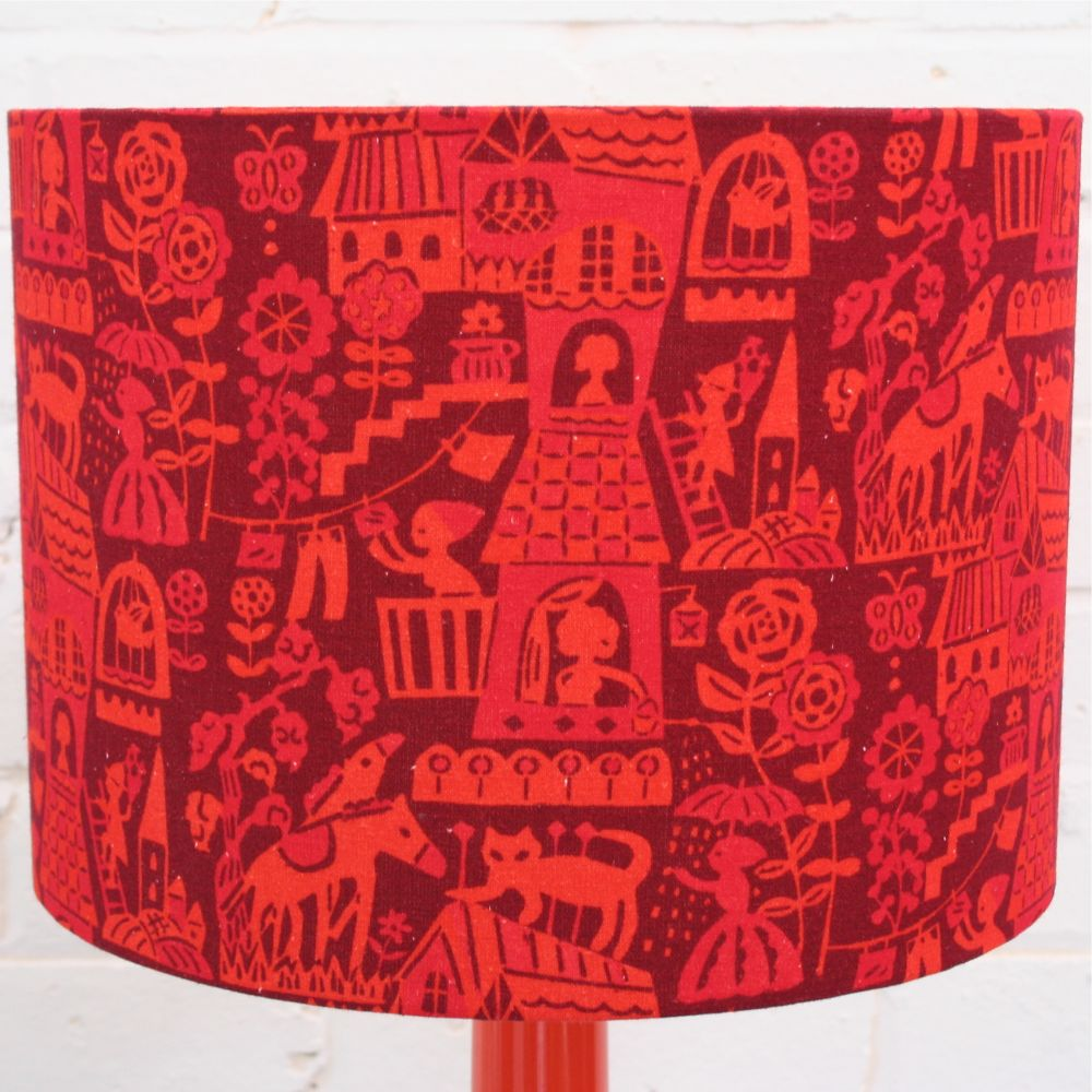 Bell Bottom Table Lamp with Higgledy Shade by Winter's Moon