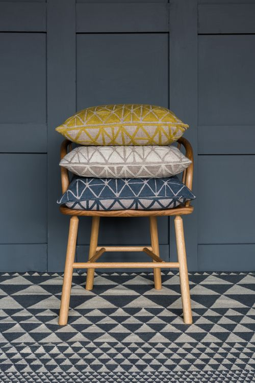 Berber Cushions with Isosceles Flatweave Rug