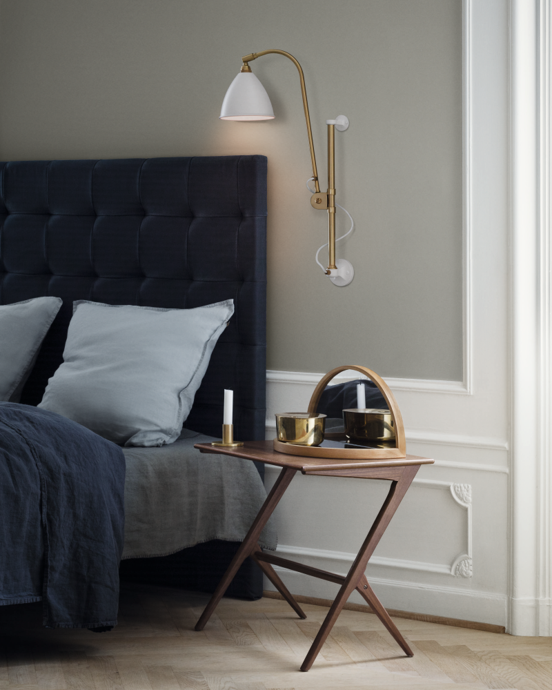bestlite bl5 wall light charcoal black brass by gubi