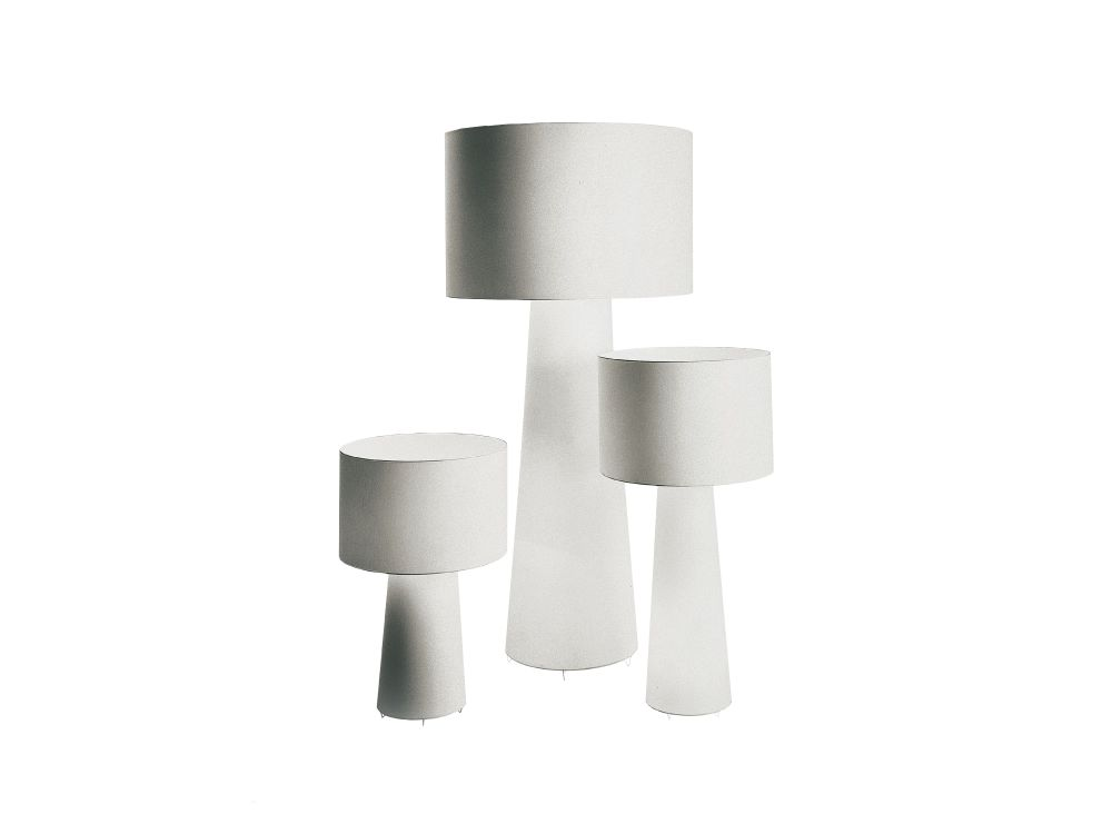 Big Shadow White Fabric Light Lamp by Cappellini