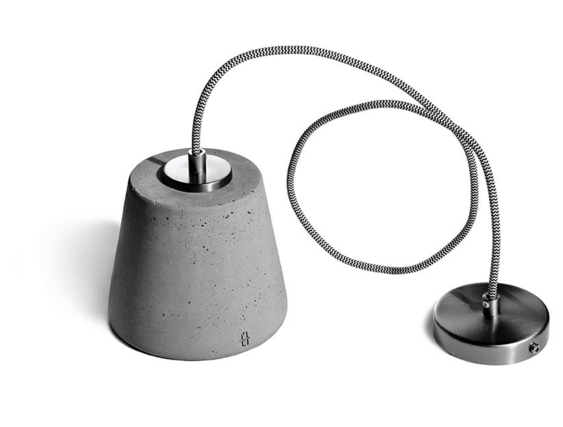 Calix 14 Concrete Pendant Light by URBI ET ORBI