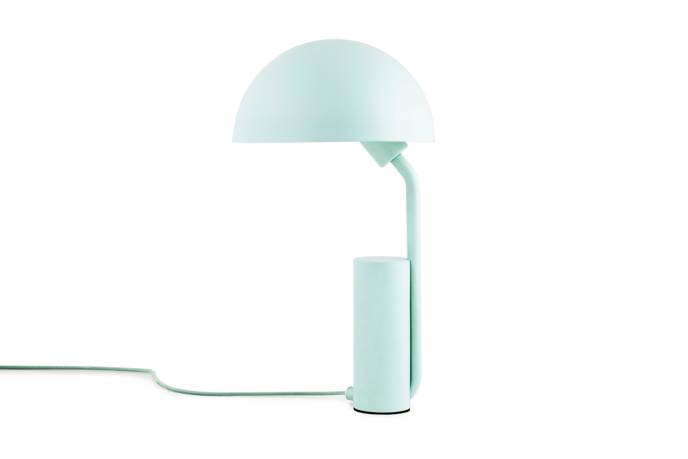 Table lamps cap table lamp misty blue