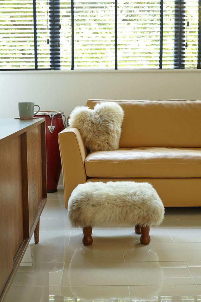 Ceri Sheepskin Footstool  by Baa Stool