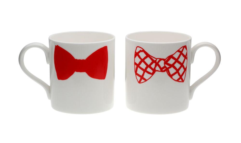 Charlie Dexter Bow Tie Mug by Peter Ibruegger Studio