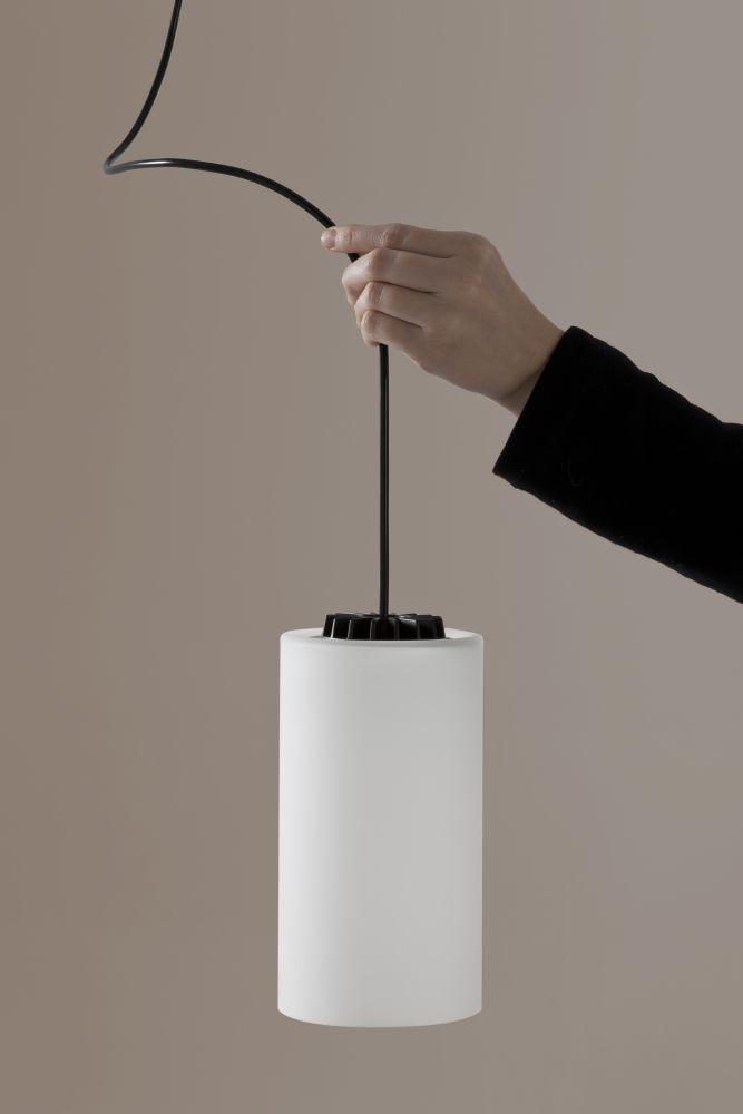 Cirio simple pendant light black 300 white porcelain by santa cole cirio simple pendant light from santa cole aloadofball Images