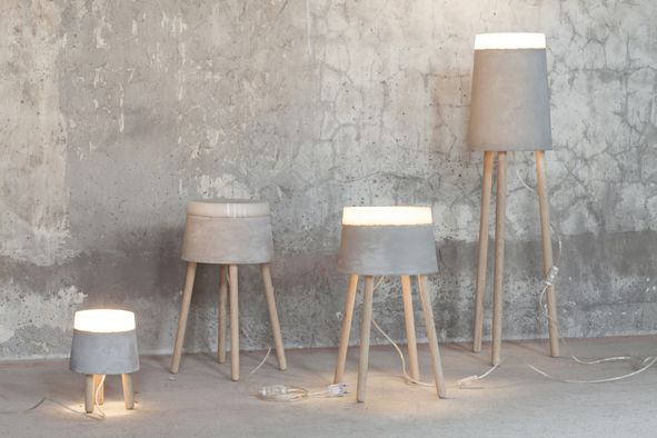 Concrete Floor Lamp From Renate Vos