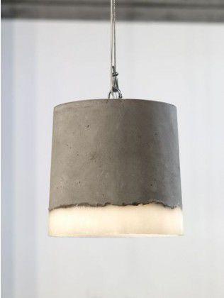 Concrete Pendant Light by Renate Vos