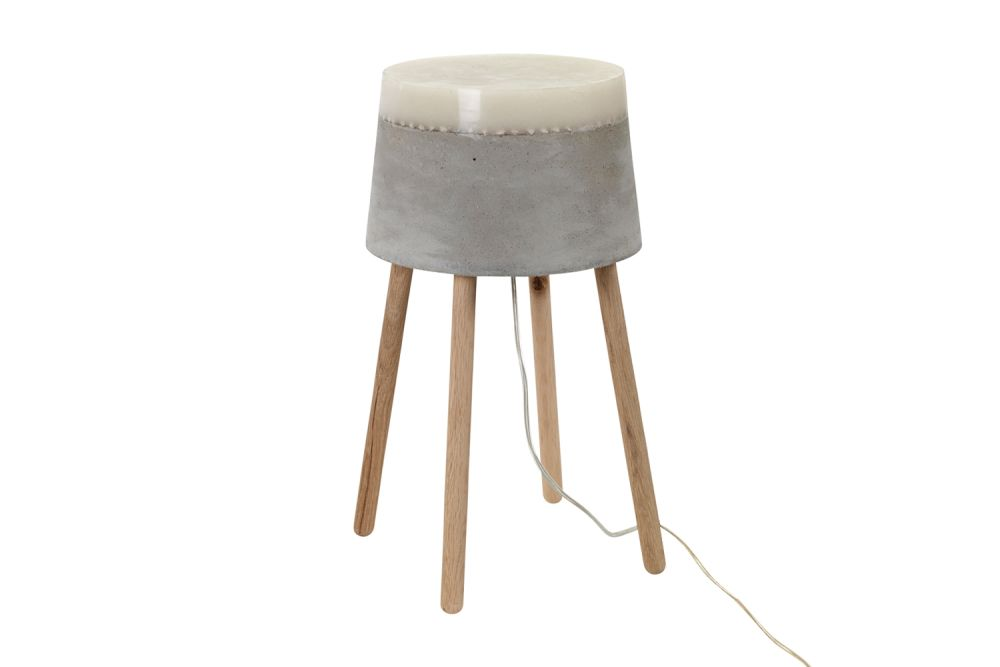 Concrete Table Lamp by Renate Vos