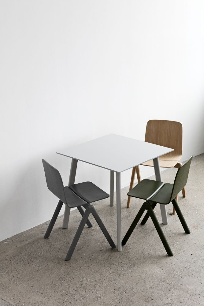 Copenhague Deux is a new range of tables and benches for compact spaces. & Copenhague Deux (CPH210) Square Dining Table by Hay