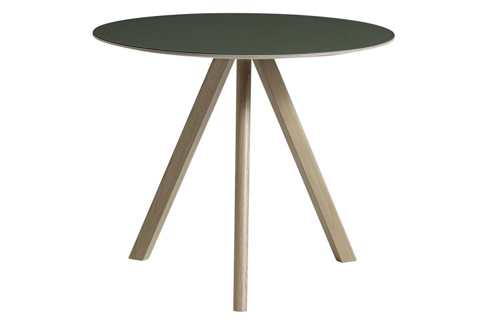Copenhague Linoleum Top Round Dining Table CPH20 by Hay