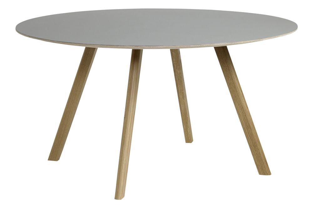 Copenhague Linoleum Top Round Dining Table CPH25 by Hay