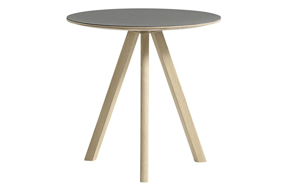 Copenhague Linuleum Top Round Coffee Table Cph20 By Hay