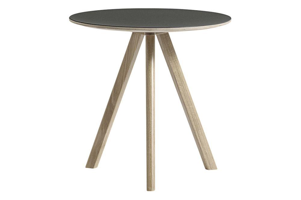Copenhague Linuleum Top Round Coffee Table CPH20 by Hay