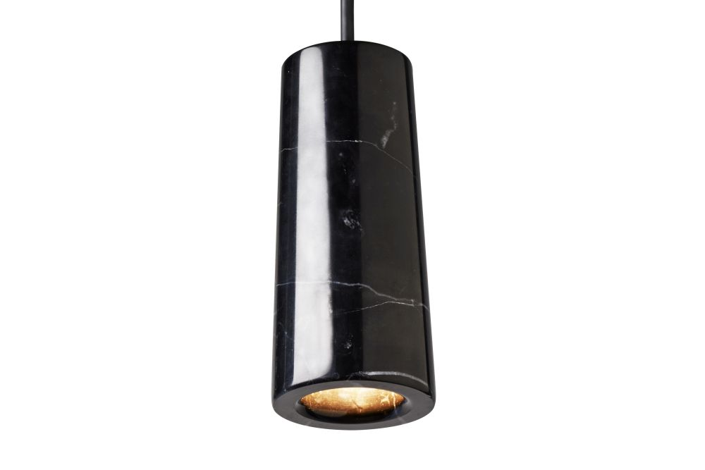 Core Single Pendant Light Nero Marquina Marble