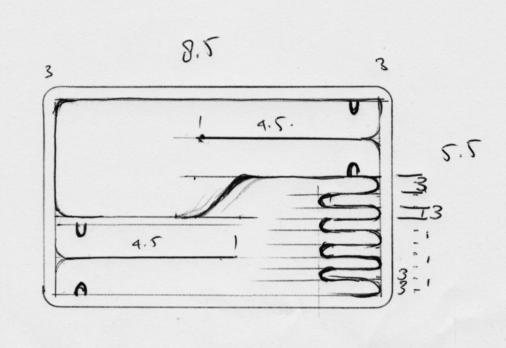 Credit card Cutlery Sketch