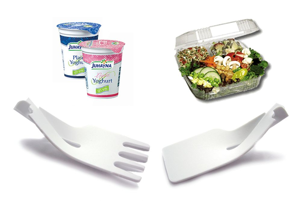 Credit Card Cutlery and food