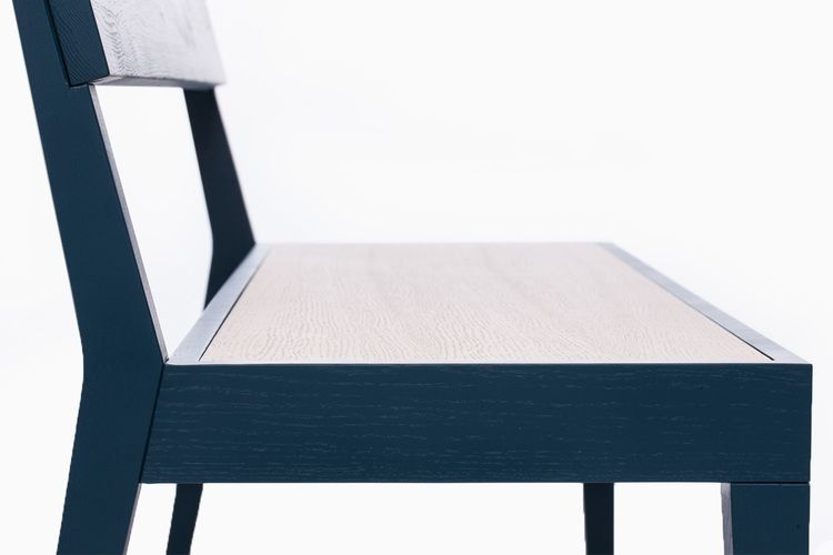 Cubo Bench With Wood Seat by Another Brand