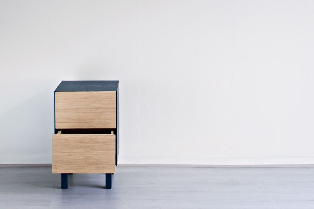 Cubo Side table 2 Drawers by Another Brand
