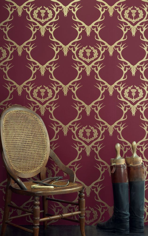 Deer Damask Wallpaper by Barneby Gates