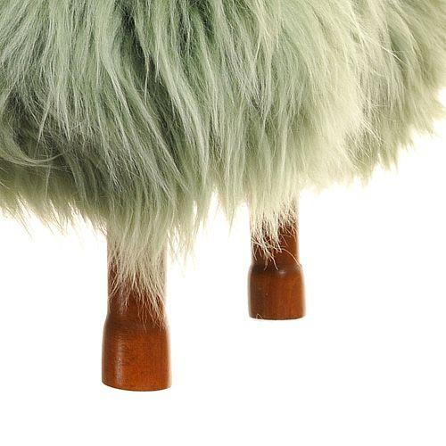 Delyth Sheepskin Footstool  by Baa Stool