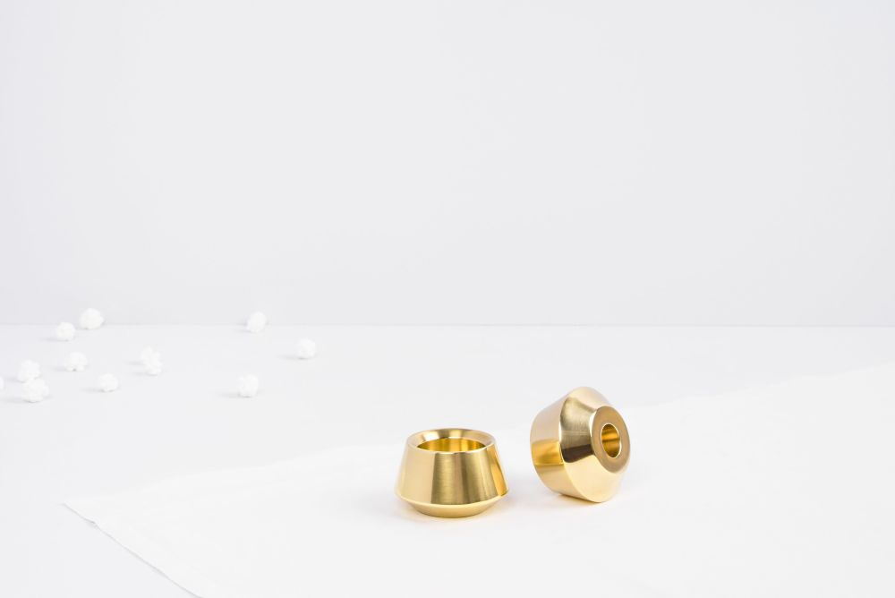 Diya Stackable Candleholders Set by Tiipoi