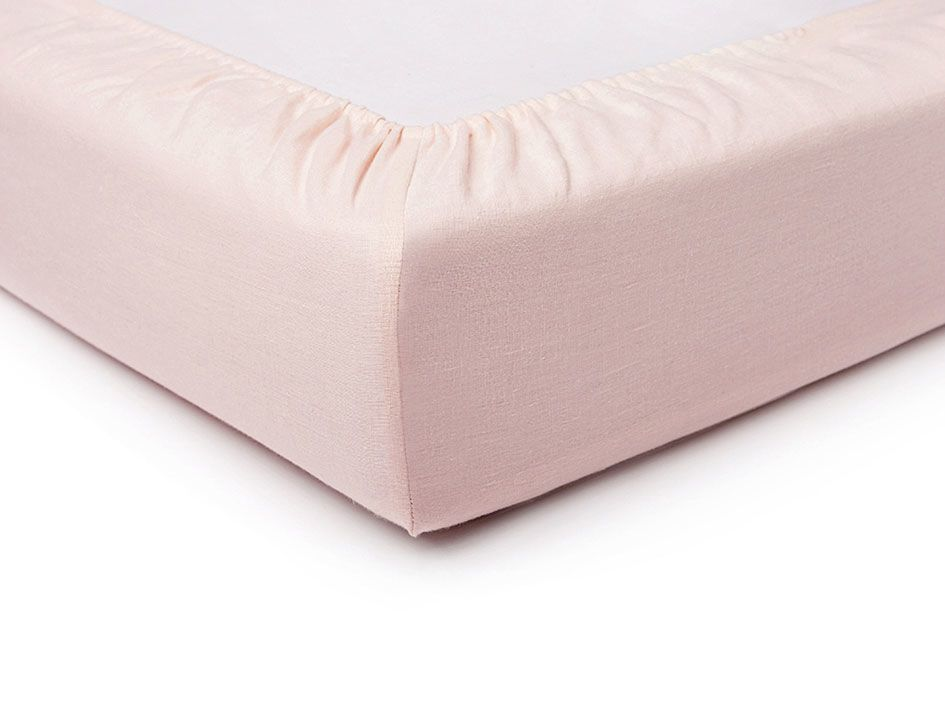 Dusty rose fitted sheet