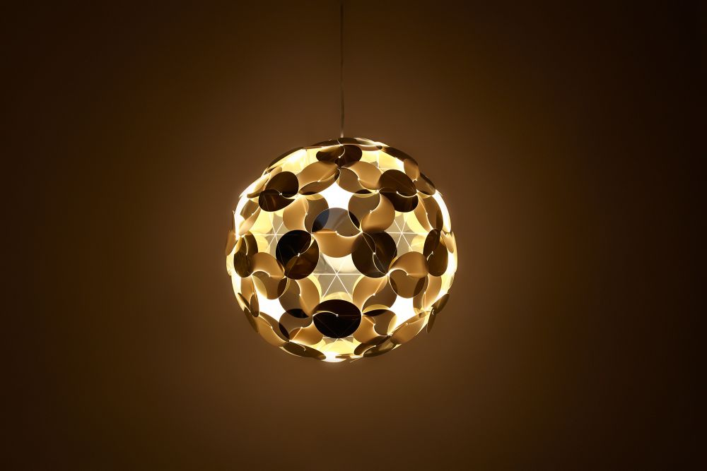 Ego dama pendant lamp shade white by hiroshi tsunoda for designcode view more images mozeypictures Image collections