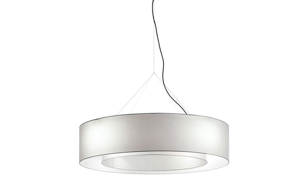 Fabric hanging lamp lighting device with diffused light by cappellini mozeypictures Choice Image