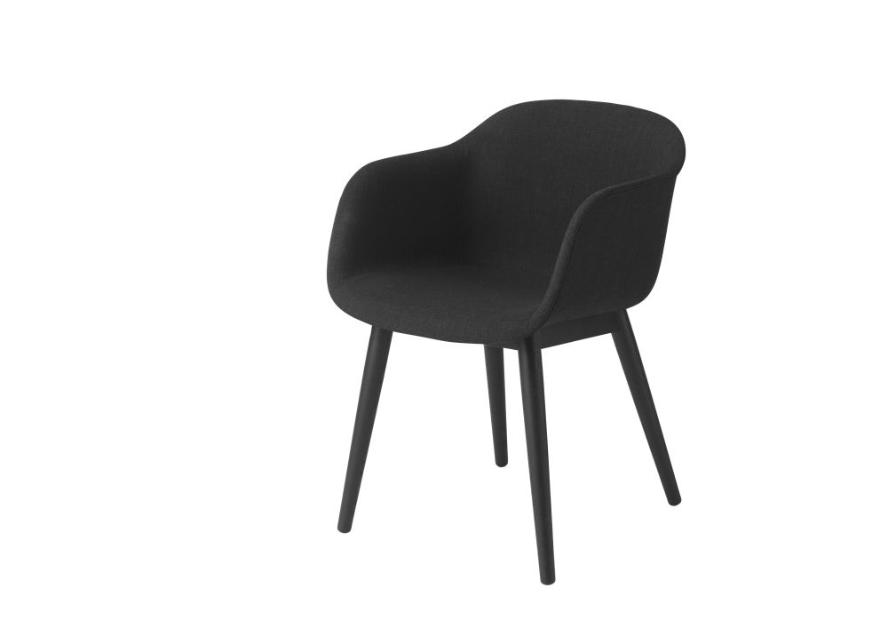 Fiber Armchair Wood Base - Upholstered by Muuto