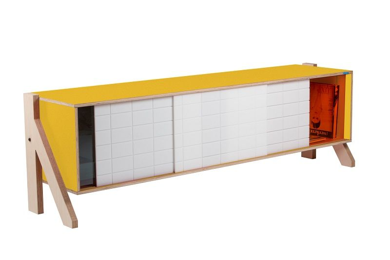 Frame Sideboard 01 Mid - Canary Yellow