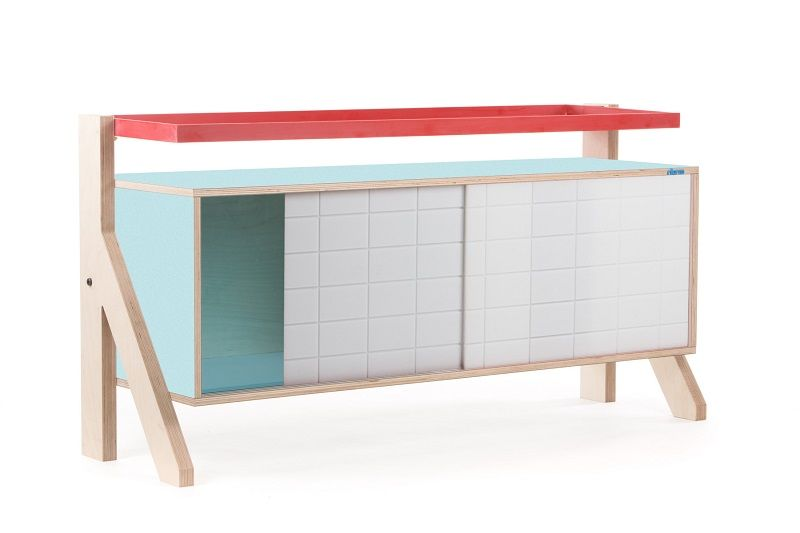 Frame Sideboard 03 Small - Butterfly Blue