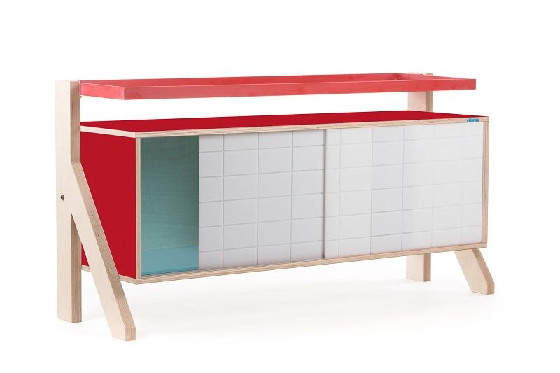 Frame Sideboard 03 Small - Cherry Red