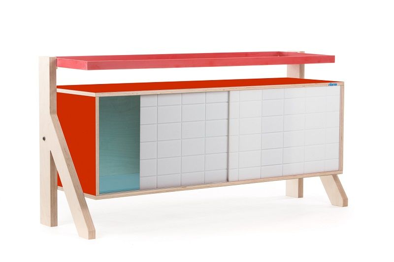 Frame Sideboard 03 Small - Foxy Orange