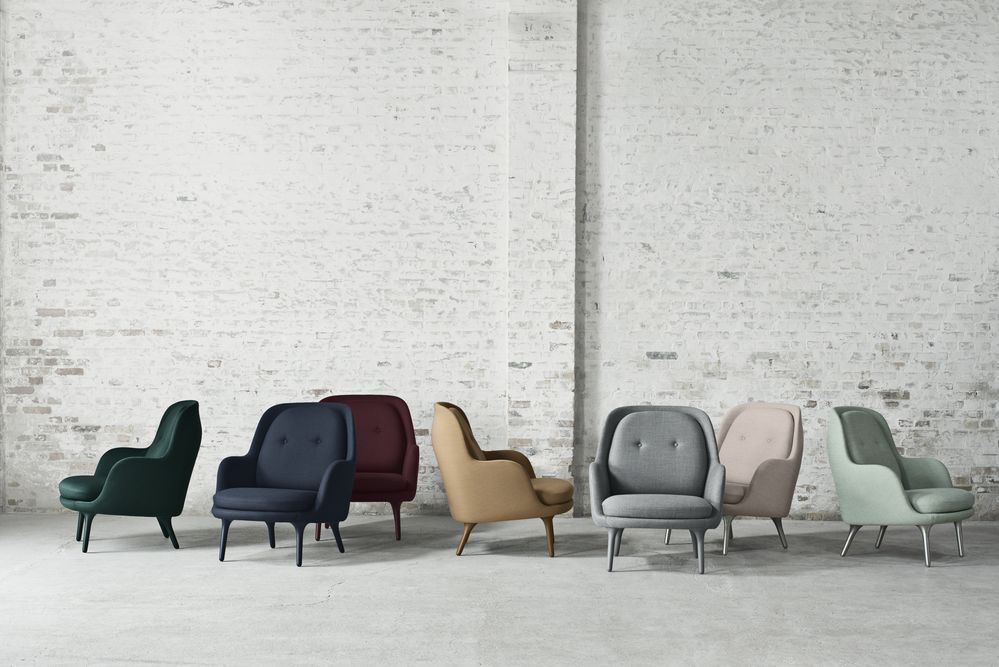 Fri Easy Chair with Brushed Aluminium Legs by Republic of Fritz Hansen