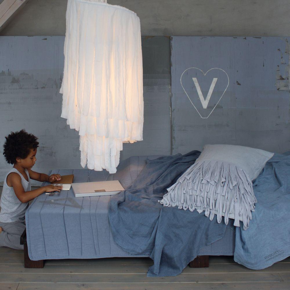 Fringed Cushion – Light by Vividgrey
