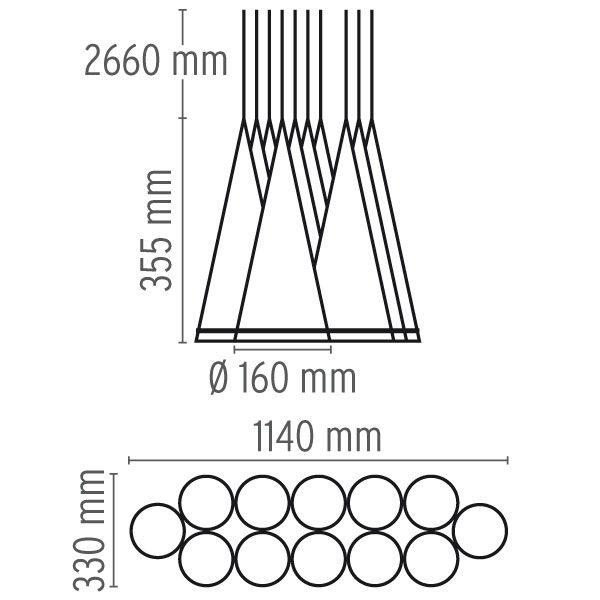 Fucsia Pendant Light by Flos
