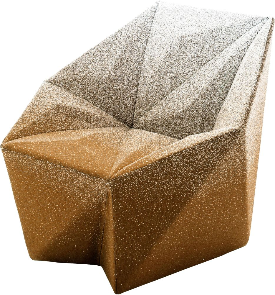Gemma Armchair by Daniel Libeskind for Moroso, upholstered in Blur - orange