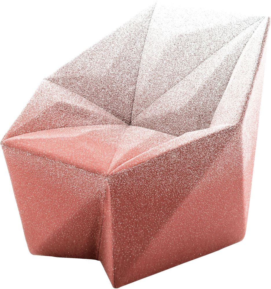 Gemma Armchair by Daniel Libeskind for Moroso, upholstered in Blur - peach