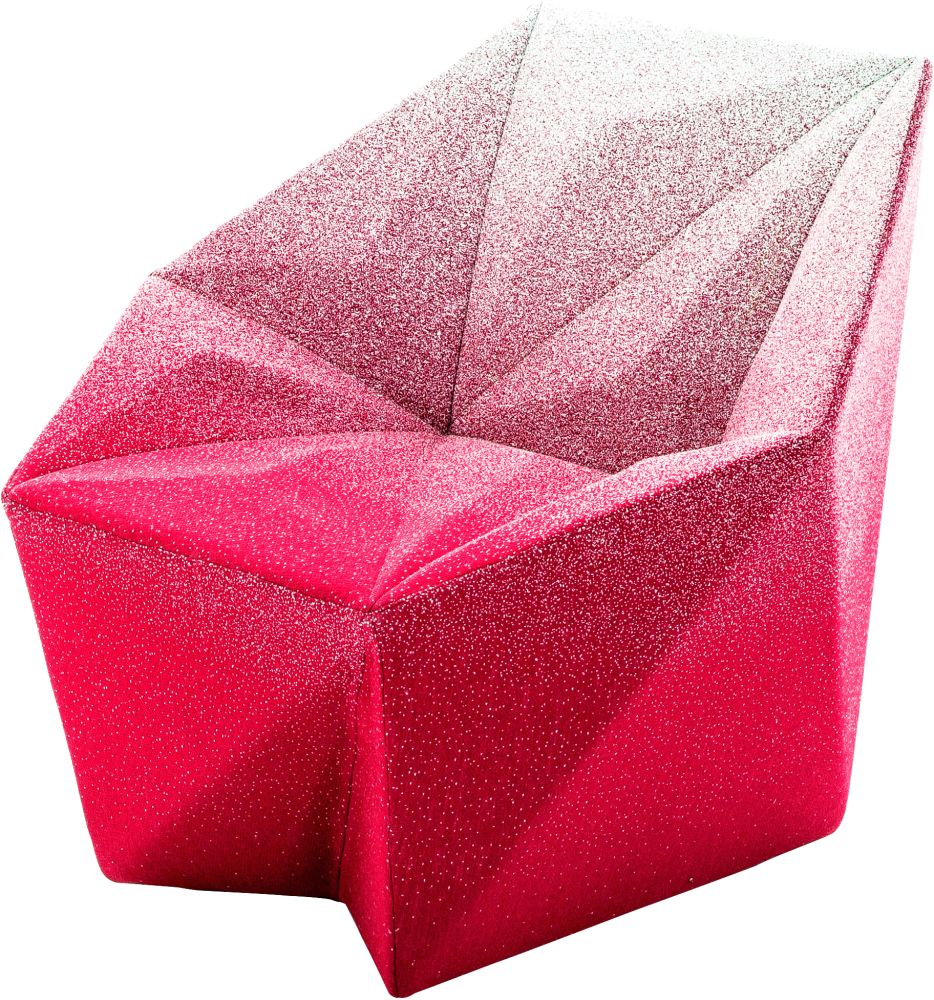 Gemma Armchair by Daniel Libeskind for Moroso, upholstered in Blur - pink