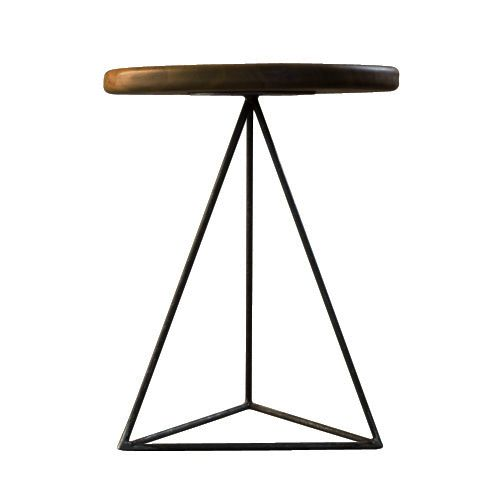 Geometric Table Stool Iroko By Biggs Amp Quail