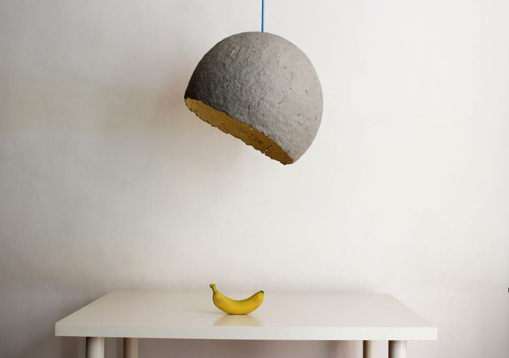 Globe paper pulp pendant light globe by crea re studio globe paper pulp pendant light mozeypictures Images