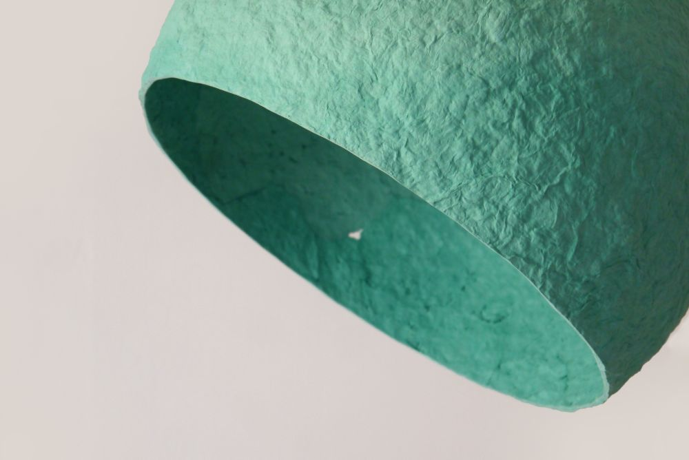 Globe Turuoise paper pulp lamp by Crea-Re Studio