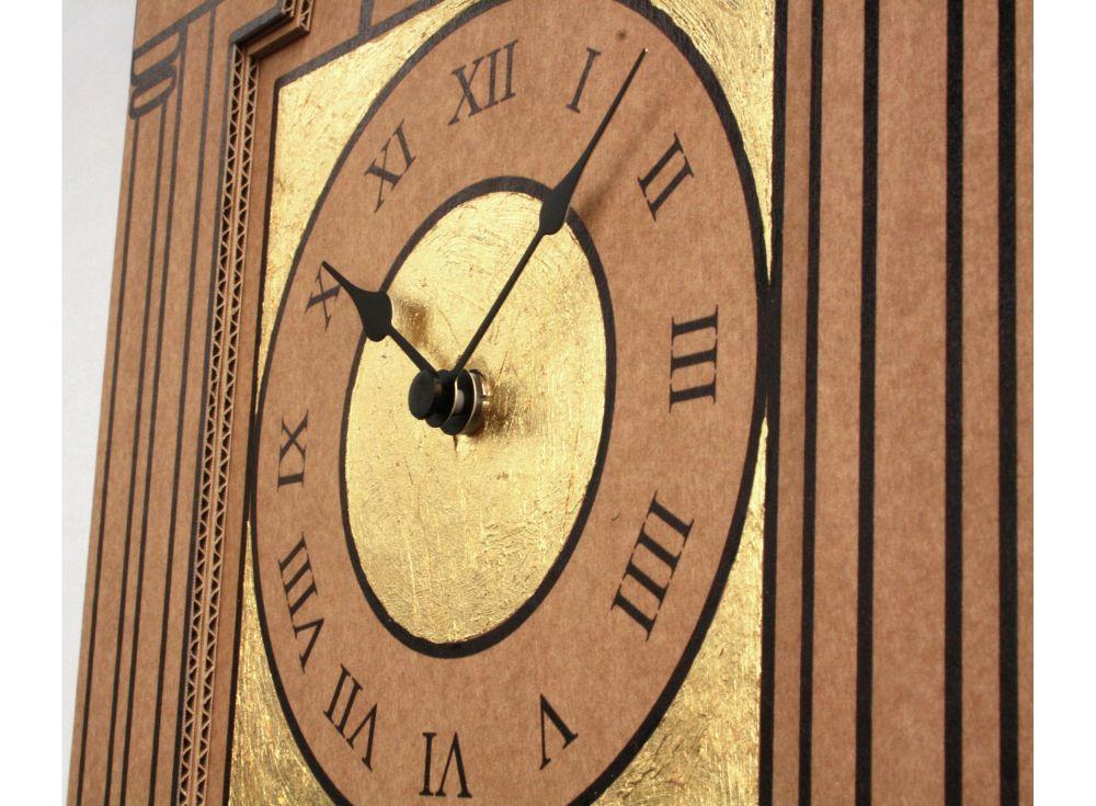 Golden Time Clock by Karton Art Design