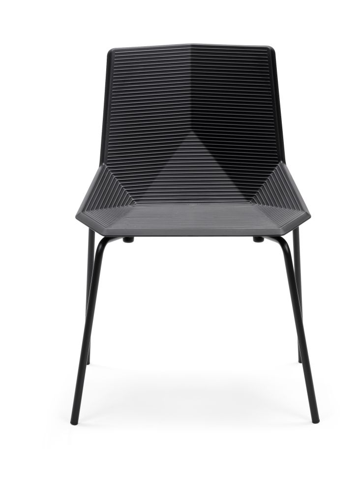 Green Eco Metal Dining Chair by Mobles 114