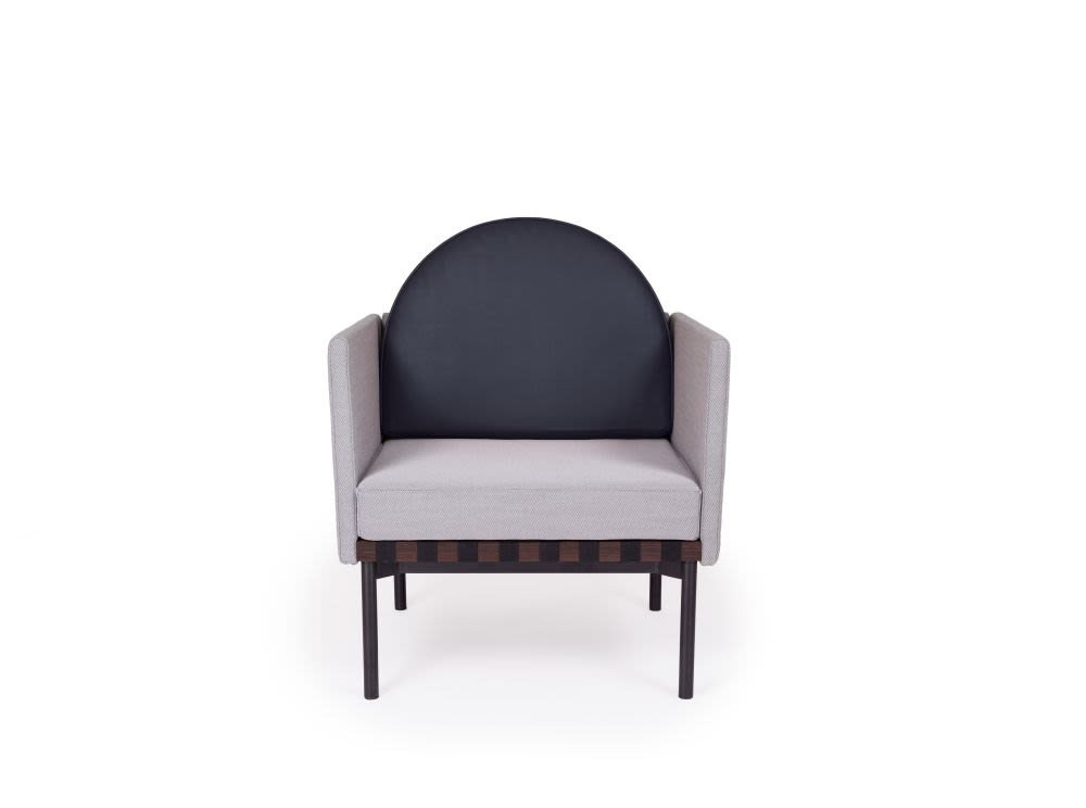 Grid - Armchair with 2 Armrests with Round Cushion by Petite Friture